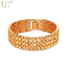 mens gold hand bracelet images U7 brand men bracelets bangles silver gold color chunky big 1 8cm jpeg