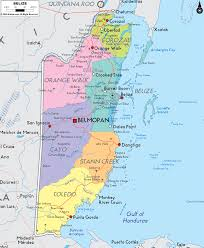 Map Of Middle America by Political Map Of Belize Ezilon Maps Coco U0027s Mission Pinterest