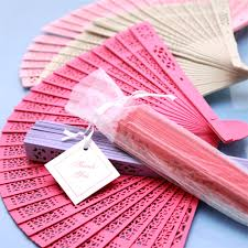 fan favors color sandalwood fan palm and bamboo fans wedding favors