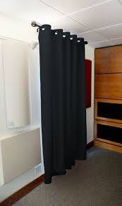 black acoustic curtain has made form the thick fabric also can be