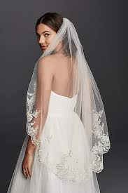 wedding veils mid length wedding veils david s bridal