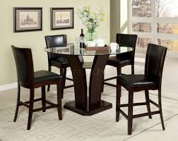 Counter Height Dining Room Set by Cm3710pt 5pc Counter Height Dining Set W Black Chairs