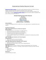 Sample Resume For Freshers Engineers Computer Science by The Most Elegant Best Resume Format For Freshers Engineers