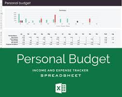 Finance Excel Template Spreadsheet Etsy