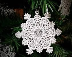 snowflake ornaments snowflake ornaments etsy