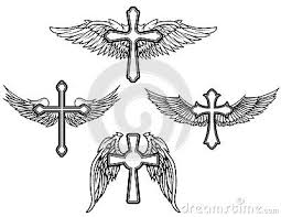 set of the cross with wings ideas