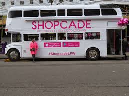 double decker party bus lfw street style x shopcade party bus fashion killer