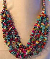 beaded stone necklace images Multi strand beaded semi precious stone necklace jpg