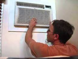 Wall Air Conditioner Cover Interior Installing A New Air Conditioner Ac Wall Unit Part 3 Putting