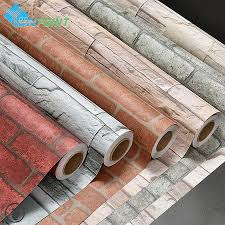 self adhesive wall paper 3m 5m modern vinyl self adhesive wallpaper pvc waterproof stone