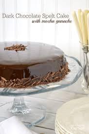 dark chocolate spelt cake with mocha ganache