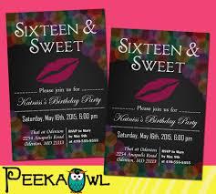 invitations for sweet 16 birthday invitation card ideas