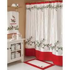 Christmas Bathroom Decor Amazon by Christmas Bath Set Shower Curtain 12 Shower Hooks Rug