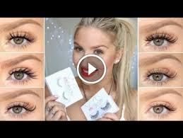 how to apply false eyelashes xobeauty lash try on u0027s video