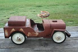 toy jeep car vintage rare large structo antique jeep fire truck vintage pedal