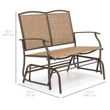 Furniture Choice Best Choice Products 2 Person Loveseat Patio Glider Bench Rocker