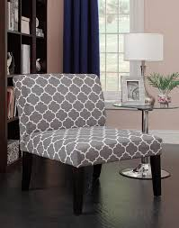 decoration furniture grey and white accent chair fabric cover