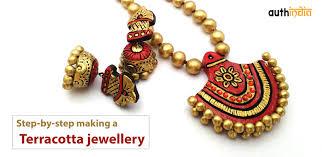 jewellery making necklace images Diy steps for making terracotta jewellery step by step jewelry jpg