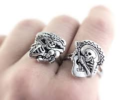 day rings sugar skull jewelry silver sugar skull ring day of the