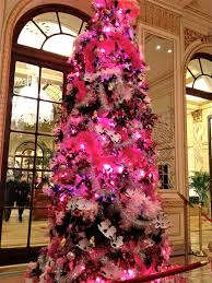pink and purple christmas tree baubles decorations ideas