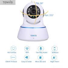 interior home surveillance cameras tenvis t6812 720p hd wifi ip pan tilt wireless onvif h 264