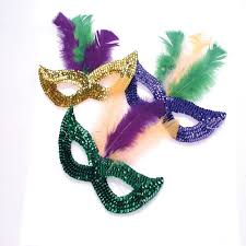 mardi gras mask with feathers party express outlet pinatas candy collegiate items jewelry