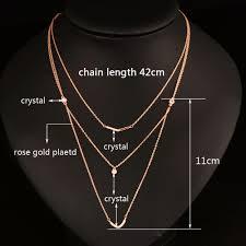 pendant necklace chain length images Buy sinleery trendy boho v shape 3 multi layers jpg