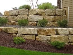 retaining wall rock hard landscape supply landscaping boulders