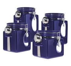 blue kitchen canister kitchen canister sets ceramic 21 trendy interior or image of and