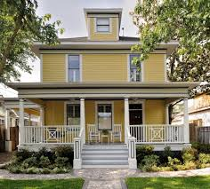 an offset entrance is common on american foursquare style homes