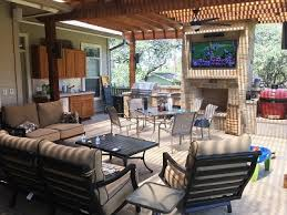 house review outdoor living spaces professional builder from simple deck to rugged texas backyard man cave score