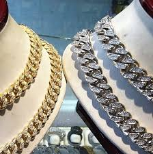 yellow gold cuban link bracelet images Yellow gold or white gold finish 13mm miami cuban link chain jpg