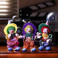 home decoration ceramic circus clown figurine statue