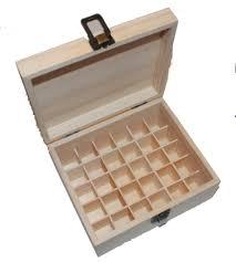 wooden storage box for 30 10ml essential oils