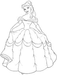 belle beauty beast coloring pages eliolera