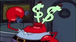mr krabs money eyes youtube