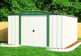 metal sheds as additional storage space areas