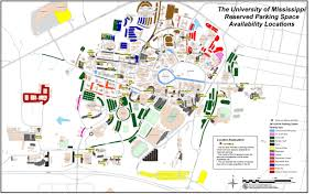 Michigan State Campus Map by Ole Miss Parking Registration Opening Hottytoddy Com