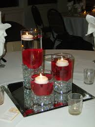 black white red wedding centerpieces red black and white
