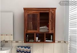 Wooden Shelf Designs India by Buy Wooden Bathroom Cabinets Online Only At Wooden Street