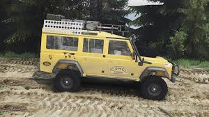 land rover yellow rover defender 110 camel trophy 25 12 15 for spin tires