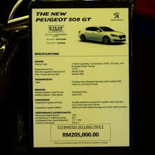 peugeot 2015 price 2015 peugeot 508 gt previewed at mid valley megamall rm205k
