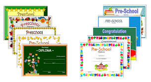 preschool certificates preschool diploma certificate editable the best templates collection