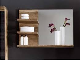 Spiegelschrank Bad Holz by Badezimmerspiegel Holz Inklusive Mit Drei Ablagen