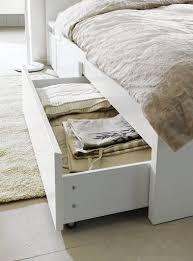 ikea u0027s malm under bed storage bins can make a regular bed look