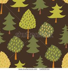 forest seamless pattern various type trees stock vector 548908318
