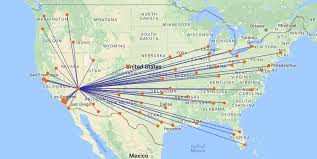swa route map southwest airlines is las vegas number one carrier