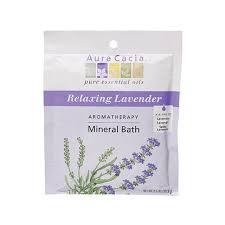bath and shower aura cacia aura cacia lavender mineral bath 2 5 oz
