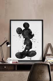 watercolor mickey watercolor black u0026 white mickey poster disney