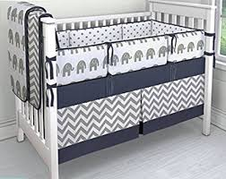 amazon com 7 pieces set elephant crib bedding baby bedding set